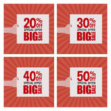 Big sale labels Royalty Free Stock Photos