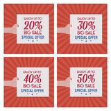 Big sale labels Royalty Free Stock Images