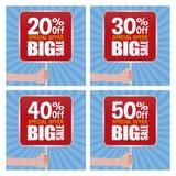 Big sale labels Stock Photo