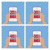 Big sale labels Stock Images