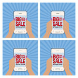 Big sale labels Stock Photography