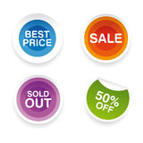 Big sale labels Royalty Free Stock Image