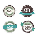 Big sale labels Royalty Free Stock Photography
