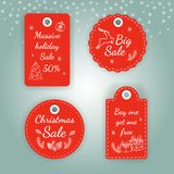 Big sale labels. Super sale banner. Red discount poster. Special offer. Vector picture Stock Image