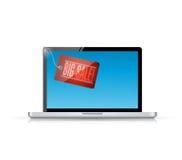 big sale laptop computer tag illustration Royalty Free Stock Image