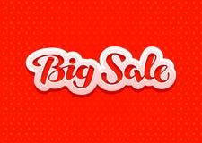 Big Sale lettering. Design for Christmas sales, banner. Vector illustration Royalty Free Stock Images