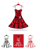 Big Sale lettering on Dress shape on hanger.Icon Stock Photos