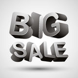 Big sale lettering. Stock Photo