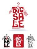 Big Sale lettering on tee shirt shape on hanger Stock Images