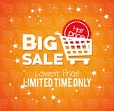 Big sale limited time only lowest price buy cart half price Stock Photo