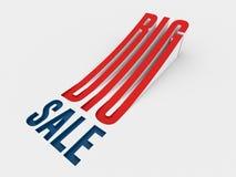 Big sale logo. 3d rendering Royalty Free Stock Image