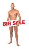 Big sale male model Stock Image