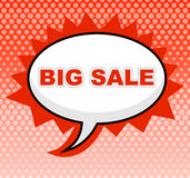 Big Sale Means Message Cheap And Sign Royalty Free Stock Photo