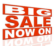 Big Sale Means At The Moment And Closeout Stock Image