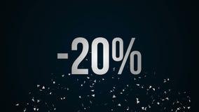 Big Sale Message Credits Animation. stock video
