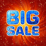 Big sale message. EPS 8 Stock Photography