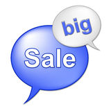Big Sale Message Indicates Save Promo And Closeout Stock Image