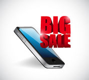 Big sale mobile phone business sign Royalty Free Stock Image