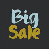 Big Sale. Modern brush calligraphy. stock photo