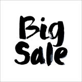 Big Sale. Modern brush calligraphy. Stock Photo