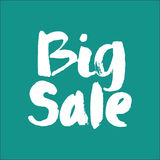 Big Sale. Modern brush calligraphy. Stock Images