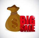 Big sale money bag business sign Royalty Free Stock Images