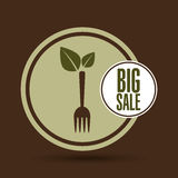 Big sale natural food healthy. Vector illustration eps 10 royalty free illustration