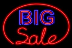 Big sale neon Royalty Free Stock Image