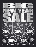 Big Sale New Year chalkboard card Royalty Free Stock Images