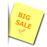 Big sale note Stock Photos