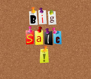 Big sale notice board Stock Photography