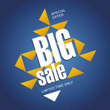 Big sale offer orange blue abstract background Royalty Free Stock Images