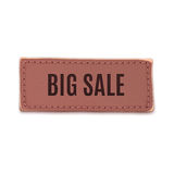 Big sale, old vintage handmade leather label Stock Image
