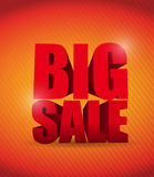 Big sale orange background business sign Royalty Free Stock Photos