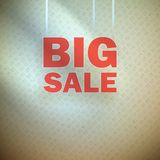 Big sale over blue green background. Stock Photos
