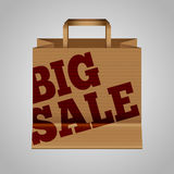 Big sale paper bag Royalty Free Stock Image