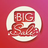 Big Sale Paper Folding Design Royalty Free Stock Image