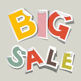Big Sale Paper Stickers Royalty Free Stock Photos