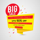 Big Sale Paper Tag or Banner design. Royalty Free Stock Photos