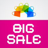 Big Sale Paper Title on Pink Background Royalty Free Stock Photo