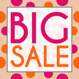 Big Sale Peach Pink Circles Background Royalty Free Stock Photography