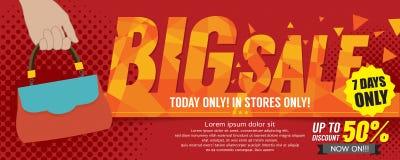 Big Sale 50 Percent 6250x2500 pixel Banner. Big Sale 50 Percent 6250x2500 pixel Banner Vector Illustration Royalty Free Stock Images