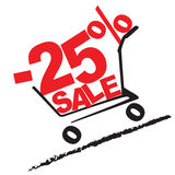 Big sale, 25 percentage discount. Vector illustration Royalty Free Stock Images
