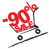 Big sale, 90 percentage discount. Vector illustration Royalty Free Stock Photography