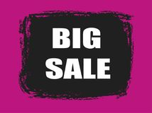 Big sale banner. Big sale pink and black banner Royalty Free Stock Photos