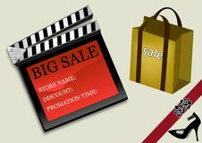 Big sale poster Stock Photo