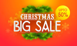Big Sale poster, banner or flyer for Christmas. Stock Images