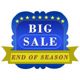 Big sale poster royalty free illustration