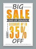 Big Sale poster, banner or flyer design. Stock Photo