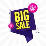 Big Sale Poster, Banner or Flyer design. Royalty Free Stock Image
